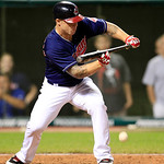 Cleveland Indians&#039; Aaron Cunningham bunts off Detroit Tigers pitcher Doug Fister in the seventh inning of a baseball game, Tuesday, July 24, 2012, in Cleveland. Lou Marson scored. Cunningham &#8230;