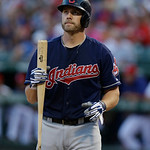 Cleveland Indians Mark Reynolds holds a bat during the baseball game against the Texas Rangers Tuesday, June 11, 2013, in Arlington, Texas. (AP Photo/LM Otero)