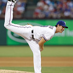 Texas Rangers starting pitcher Nick Tepesch (49) throws during the baseball game against the Cleveland Indians Wednesday, June 12, 2013, in Arlington, Texas. (AP Photo/LM Otero)