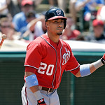 Washington Nationals' Ian Desmond tosses his bat after striking out against Cleveland Indians starting pitcher Corey Kluber to end the top of the fourth inning of a baseball game Sunday, Jun …