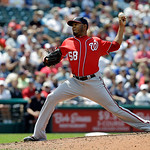 Washington Nationals relief pitcher Fernando Abad delivers against the Cleveland Indians in the sixth inning of a baseball game Sunday, June 16, 2013, in Cleveland. The Indians won 2-0. (AP  …