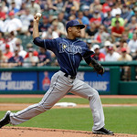 Tampa Bay Rays' Chris Archer pitches against the Cleveland Indians in a baseball game Saturday, June 1, 2013, in Cleveland. (AP Photo/Mark Duncan)