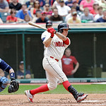 Cleveland Indians' Asdrubal Cabrera bats against the Tampa Bay Rays in a baseball game Saturday, June 1, 2013, in Cleveland. (AP Photo/Mark Duncan)