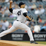 New York Yankees starting pitcher Andy Pettitte delivers against the Cleveland Indians in the first inning of a baseball game at Yankee Stadium in New York, Monday, June 3, 2013.  (AP Photo/ …