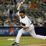 New York Yankees relief pitcher Mariano Rivera delivers against the Cleveland Indians in a baseball game at Yankee Stadium in New York, Monday, June 3, 2013.  The Yankees defeated the Indian …