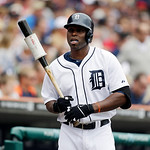 Detroit Tigers' Torii Hunter prepares to bat during the third inning of a baseball game against the Cleveland Indians in Detroit, Sunday, June 9, 2013. (AP Photo/Carlos Osorio)