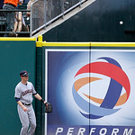 Cleveland Indians center fielder Drew Stubbs watches as Detroit Tigers' Don Kelly three-run home run clears the outfield wall during the sixth inning of a baseball game, Sunday, June 9, 2013 …