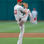 Philadelphia Phillies starting pitcher Cliff Lee delivers a pitch in the first inning of a baseball game against the Cleveland Indians, Wednesday, May 1, 2013, in Cleveland. (AP Photo/Tony D …