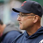 Cleveland Indians manager Terry Francona is seen during the seventh inning of a baseball game against the Detroit Tigers in Detroit, Sunday, May 12, 2013. (AP Photo/Carlos Osorio)