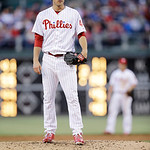 Philadelphia Phillies' Jonathan Pettibone in action during an interleague baseball game against the Cleveland Indians, Tuesday, May 14, 2013, in Philadelphia. (AP Photo/Matt Slocum)