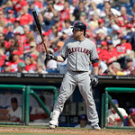 Cleveland Indians' Jason Kipnis in interleague baseball action against the Philadelphia Phillies Wednesday, May 15, 2013, in Philadelphia. (AP Photo/H. Rumph Jr)