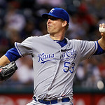 Kansas City Royals starting pitcher Will Smith delivers against the Cleveland Indians in the sixth inning of a baseball game Tuesday, May 29, 2012, in Cleveland. Smith held the Indians to tw …