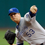 Kansas City Royals starting pitcher Will Smith delivers against the Cleveland Indians in the first inning of a baseball game Tuesday, May 29, 2012, in Cleveland. (AP Photo/Mark Duncan)
