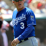 Kansas City Royals manager Ned Yost walks from the mound against the Cleveland Indians in the seventh inning of a baseball game in Cleveland on Wednesday, May 30, 2012. (AP Photo/Amy Sancett …
