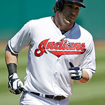 Cleveland Indians' Jason Kipnis rounds the bases after hitting a two-run home run off Oakland Athletics starting pitcher Bartolo Colon in the first inning of a baseball game Thursday, May 9, …
