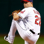 Cleveland Indians starting pitcher Corey Kluber works in the first inning of a baseball game against the Chicago White Sox, Monday, Oct. 1, 2012, in Cleveland. (AP Photo/Tony Dejak)