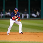 Cleveland Indians shortstop Asdrubal Cabrera fields a ball during a baseball game against the Chicago White Sox, Tuesday, Oct. 2, 2012, in Cleveland. (AP Photo/Tony Dejak)