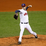Cleveland Indians starting pitcher David Huff pitches in a baseball game against the Chicago White Sox, Wednesday, Oct. 3, 2012, in Cleveland. (AP Photo/Tony Dejak)