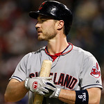 Cleveland Indians' Jack Hannahan (9) during an at-bat against the Texas Rangers a baseball game Thursday, Sept. 13, 2012, in Arlington, Texas. The Indians won 5-4. (AP Photo/Tony Gutierrez)