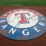 The Texas Rangers on deck circle before a baseball game against the Cleveland Indians  Thursday, Sept. 13, 2012, in Arlington, Texas. (AP Photo/Tony Gutierrez)