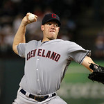 Cleveland Indians' Zach McAllister (34) delivers to the Texas Rangers during a baseball game Thursday, Sept. 13, 2012, in Arlington, Texas. The Indians won 5-4. (AP Photo/Tony Gutierrez)