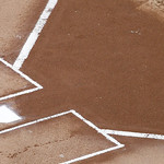 Home plate is shown before a baseball game between the Cleveland Indians and Texas Rangers Thursday, Sept. 13, 2012, in Arlington, Texas. The Indians won 5-4. (AP Photo/Tony Gutierrez)