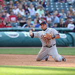 Detroit Tigers third baseman Miguel Cabrera throws to first base in a baseball game against the Cleveland Indians, Sunday, Sept. 16, 2012, in Cleveland. (AP Photo/Tony Dejak)