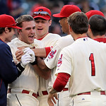 Cleveland Indians&#039; Lonnie Chisenhall, second from left, is mobbed by teammates after hitting a game winning RBI-single off Detroit Tigers relief pitcher Jose Valverde in the ninth inning of  &#8230;