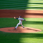 Detroit Tigers starting pitcher Anibal Sanchez pitches in a baseball game against the Cleveland Indians, Saturday, Sept. 15, 2012, in Cleveland. (AP Photo/Tony Dejak)
