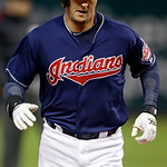 Cleveland Indians&#039; Lonnie Chisenhall rounds the bases after a solo home run off Minnesota Twins starting pitcher P.J. Walters in the second inning of a baseball game, Tuesday, Sept. 18, 2012 &#8230;