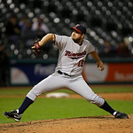 Minnesota Twins&#039; Glen Perkins pitches against the Cleveland Indians in a baseball game Tuesday, Sept. 18, 2012, in Cleveland. (AP Photo/Mark Duncan)