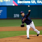 Cleveland Indians&#039; David Huff pitches against the Minnesota Twins in a baseball game Tuesday, Sept. 18, 2012, in Cleveland. (AP Photo/Mark Duncan)