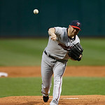 Minnesota Twins&#039; P.J. Walters pitches against the Cleveland Indians in a baseball game Tuesday, Sept. 18, 2012, in Cleveland. (AP Photo/Mark Duncan)