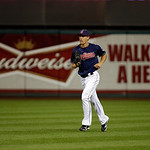 Cleveland Indians relief pitcher Scott Barnes enters a baseball game against the Minnesota Twins Tuesday, Sept. 18, 2012, in Cleveland. (AP Photo/Mark Duncan)