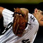 Chicago White Sox starting pitcher Chris Sale throws against the Cleveland Indians in the first inning during a baseball game, Monday, Sept. 24, 2012, in Chicago. (AP Photo/John Smierciak)
