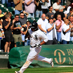 Chicago White Sox&#039;s Dayan Viciedo rounds third base after hitting a solo home run against the Cleveland Indians in the fifth inning of a baseball game, Tuesday, Sept. 25, 2012, in Chicago. ( &#8230;