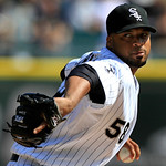 Chicago White Sox&#039;s starting pitcher Francisco Liriano throws against the Cleveland Indians in the first inning of a baseball game, Tuesday, Sept. 25, 2012, in Chicago. (AP Photo/John Smierc &#8230;