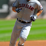Cleveland Indians&#039; Russ Canzler rounds third after hitting a home run in the second inning against the Chicago White Sox during a baseball game, Tuesday, Sept. 25, 2012, in Chicago. (AP Phot &#8230;