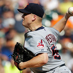 Cleveland Indians relief pitcher Vinnie Pestano throws against the Detroit Tigers in the ninth inning of a baseball game in Detroit, Monday, Sept. 3, 2012. Cleveland won 3-2. (AP Photo/Paul  …