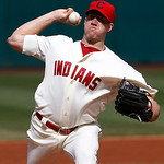 Cleveland Indians starting pitcher Zach McAllister pitches in the second inning of a baseball game against the Kansas City Royals, Sunday, Sept. 30, 2012, in Cleveland. (AP Photo/Tony Dejak)