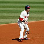 Cleveland Indians' Jason Kipnis leads off second base in a baseball game against the Kansas City Royals, Sunday, Sept. 30, 2012, in Cleveland. (AP Photo/Tony Dejak)