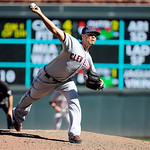 Cleveland Indians pitcher Esmil Rogers throws against the Minnesota Twins during their baseball game in Minneapolis, Sunday, Sept. 9, 2012. (AP Photo/Craig Lassig)