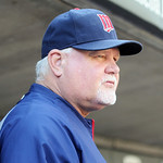 Minnesota Twins manager Ron Gardenhire watches the game against the Cleveland Indians in Minneapolis, Sunday, Sept. 9, 2012. (AP Photo/Craig Lassig)