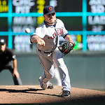 Cleveland Indians pitcher Joe Smith throws against the Minnesota Twins during their baseball game in Minneapolis, Sunday, Sept. 9, 2012. (AP Photo/Craig Lassig)