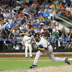 American League's Mariano Rivera, of the New York Yankees, pitches during the eighth inning of the MLB All-Star baseball game, on Tuesday, July 16, 2013, in New York. (AP Photo/Matt Slocum …