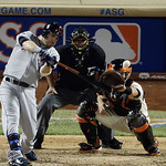 American League's Jason Kipnis, of the Cleveland Indians, hits a run-scoring double during the eighth inning of the MLB All-Star baseball game, on Tuesday, July 16, 2013, in New York. (AP  …