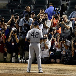 American League's Mariano Rivera, of the New York Yankees, poses for photographers after the MLB All-Star baseball game, on Tuesday, July 16, 2013, in New York. Rivera was named the game's …