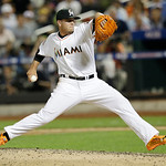 National League's Jose Fernandez, of the Miami Marlins, pitches during the sixth inning of the MLB All-Star baseball game, on Tuesday, July 16, 2013, in New York. (AP Photo/Kathy Willens)