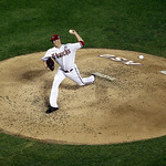National League's Patrick Corbin, of the Arizona Diamondbacks, throws during the fourth inning of the MLB All-Star baseball game, on Tuesday, July 16, 2013, in New York. (AP Photo/Julio Co …