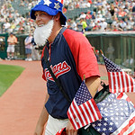 Cleveland Indians relief pitcher Nick Hagadone walks to the bullpen before a Memorial Day baseball game against the Kansas City Royals, Monday, May 28, 2012, in Cleveland. (AP Photo/Mark Dun …
